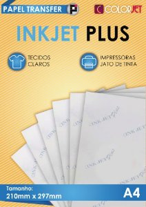 Papel Transfer 100 folhas Colorjet InkJet Plus A4