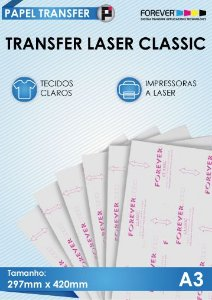 Papel Transfer Laser Classic Forever A3