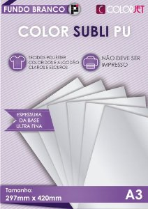 Papel Color Subli PU A3
