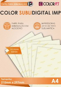 Papel Colorjet Subli Digital Imp A4