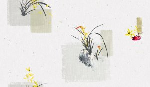 Papel de parede Iris cod. 6605-1