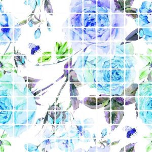 Pastilha Revest Max Floral Blue Flower