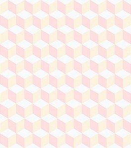 Papel de parede cubos geométricos - Bobinex cód. 3643