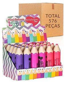 Mini Batom Lápis – Bella Femme BF10018 – Caixa Fechada com 24 Displays