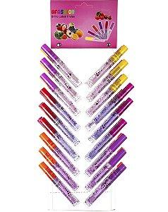 Lip Gloss Frutas – Cartela com 36 unidades