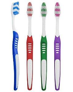 Escova Dental Média com Cerdas Zigue-Zague - 60 dúzias