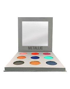 Paleta de Sombras Metallic – Display com 12 estojos