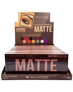 Paleta de Sombras Matte – Display com 12 estojos