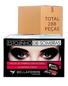 Estojinho de Sombras Opacas – Bella Femme BF10021A – Caixa Fechada com 288 Peças
