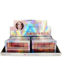 Paleta de Blush - Candy – Bella Femme BF10057 – Caixa Fechada com 12 Displays