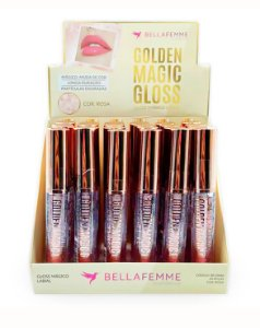 Lip Gloss Mágico - Golden Magic Gloss – Display com 24 unidades