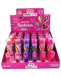 Batom Rockstar – Maria Pink MP10004 – Caixa Fechada com 24 Displays