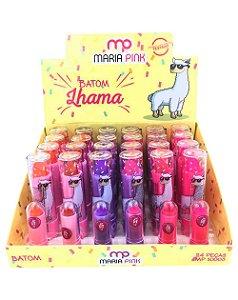 Batom Lhama – Maria Pink MP10003 – Caixa Fechada com 24 Displays