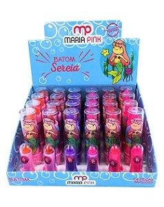 Batom Sereia – Maria Pink MP10005 – Caixa Fechada com 24 Displays