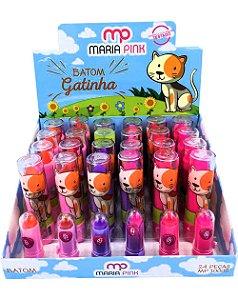 Batom Gatinha – Maria Pink MP10002 – Caixa Fechada com 24 Displays