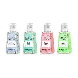 Quarteto de Higienizador de Mãos Clean Hands Bella Femme