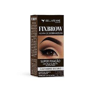 FixBrow Castanho Escuro – Henna de Sobrancelha 12 Unidades