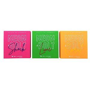 Paletas de Sombras Neon Bolt – Display com 15 unidades