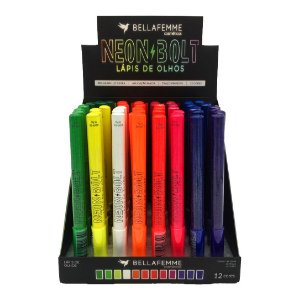 Lápis de Olhos Neon Bolt – Bella Femme BF10094 – Caixa Fechada com 24 Displays
