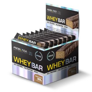 Whey Bar Cookies Cream - Display c/ 24 un 40 g Probiótica