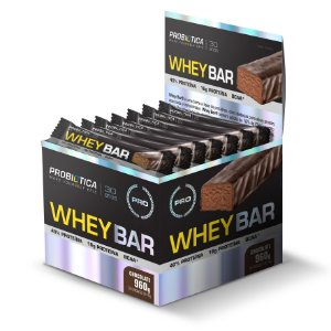 Whey Bar Chocolate - Display c/ 24 un 40g Probiótica