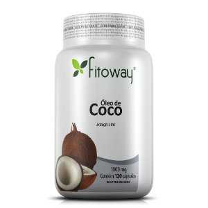 Óleo de Coco 1000mg - 120 Cápsulas (Fitoway)