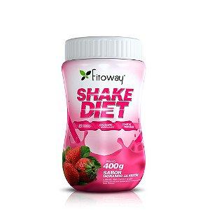 Shake Diet com Proteína Sabor Morango - 400g (Fitoway)