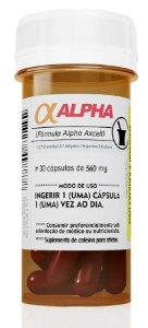 Alpha Axcell Cafeína 210mg 30 Cápsulas Power Supplements