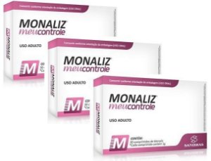 Kit Monaliz Meu Controle - 90 Comprimidos (SANIBRÁS)