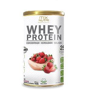 Whey Protein Sabor Morango - 450g (Mix Nutri)
