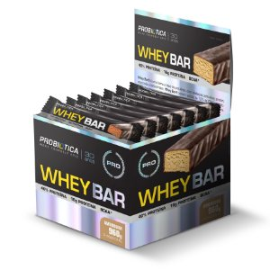Whey Bar Amendoim - Display c/ 24 un 40g Probiótica