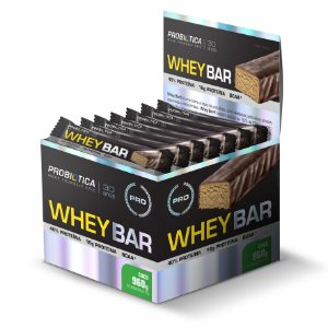 Whey Bar Coco - Display c/ 24 un 40g Probiótica
