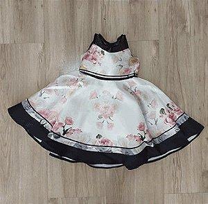 3f4df8770 Vestido Infantil De Festa - Petit Cherie - Sem Manga Flores E Pala De Tule
