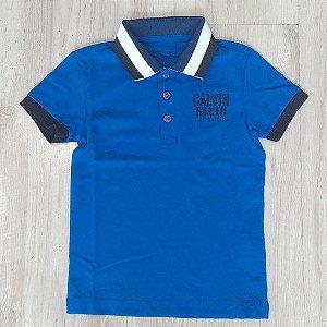 233c0c1b32 Camisa Infantil Masculina - Calvin Klein - Gola Polo Básica