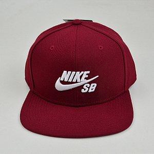 Boné Snapback Nike Sb Icon Pro Bordo