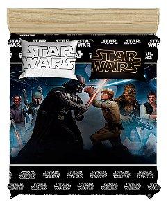 Colcha Para Cama de Casal Star Wars Darth Vader + 2 Fronhas