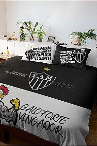 Jogo de Cama Atlético Mineiro para Cama de Casal - 3 Peças