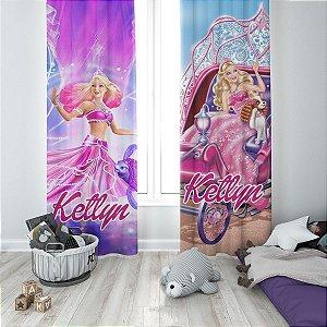 Cortina Blecaute do Barbie - Personalizada com Nome - 1,40m Largura x 1,80m Comprimento