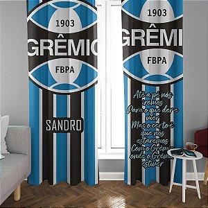 Cortina Blecaute do Grêmio - Personalizada com Nome - 1,40m Largura x 1,80m Comprimento