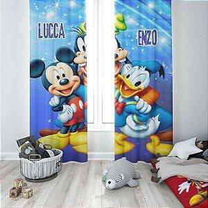 Cortina Blecaute do Mickey - Personalizada com Nome - 1,60m Largura x 2,30m Comprimento