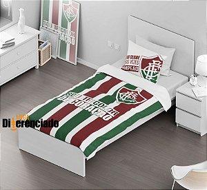 Jogo de Cama de Solteiro do Fluminense + 1 Fronha - Frete Grátis - Pronta Entrega