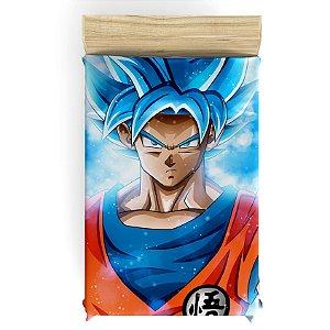 Lençol para Cama de Solteiro do Goku - Dragon Ball - Frete Grátis