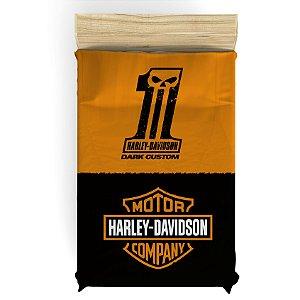 Lençol para Cama de Solteiro Harley Davidson
