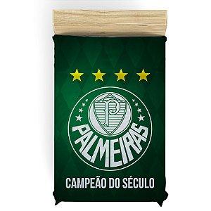 Lençol do Palmeiras para Cama de Solteiro