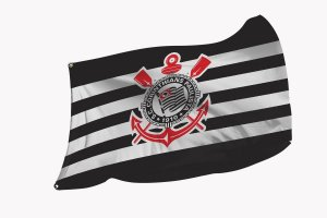 Bandeira do Corinthians - Diversos Tamanhos - Modelo 1
