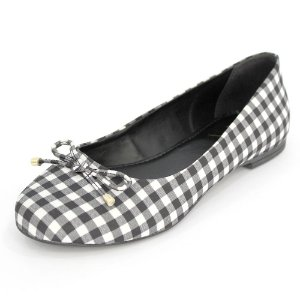 Sapatilha Infantil Dali Shoes Cetim Bico Redondo  Xadrez Vichy