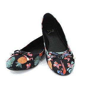 Sapatilha Infantil Dali Shoes Cetim Bico Redondo e laço