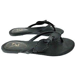 Rasteira Dali Shoes Cetim Laço