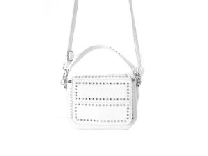 Bolsa CrossBody Branca com Metais - Dali Shoes