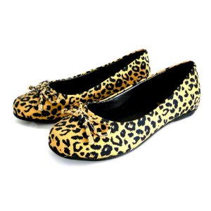 Sapatilha Infantil Dali Shoes Cetim Bico Redondo Animal Print